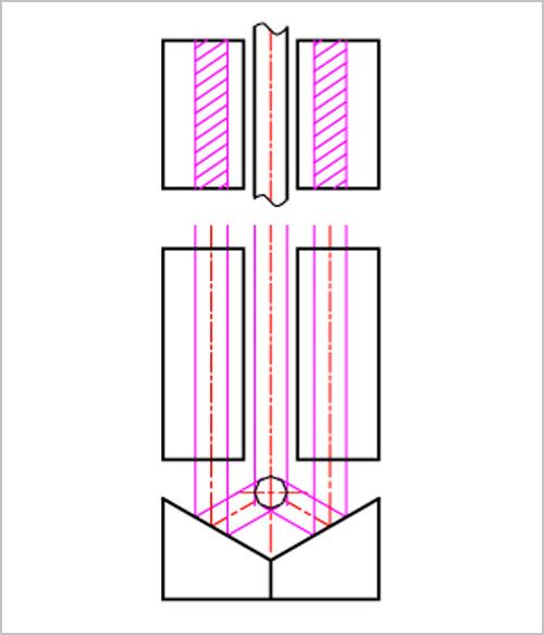 120度3分割クロビットの説明図