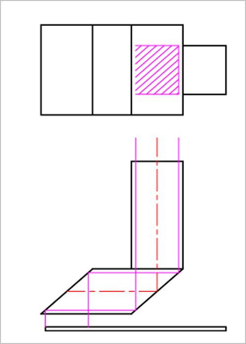 複合クロビット 上下左右の撮像の説明図