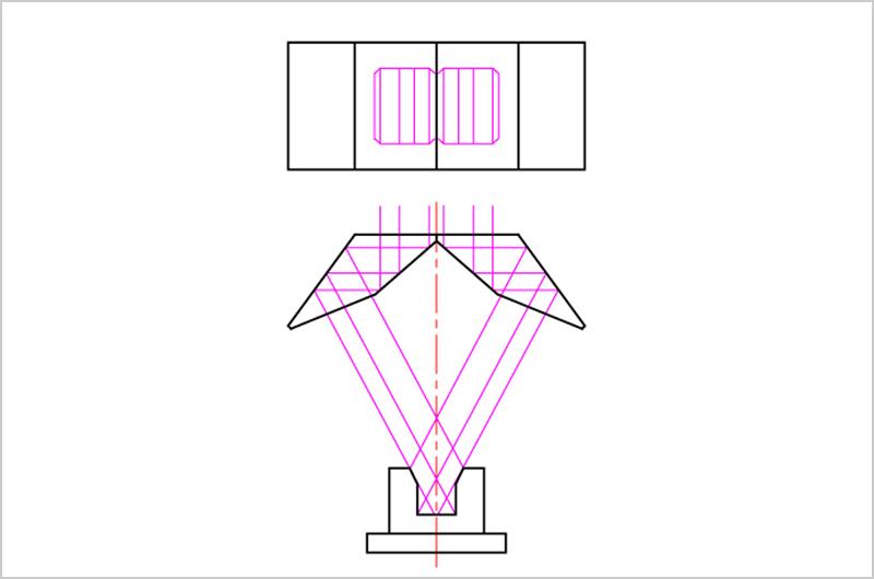 鋭角2面同時(鋭角2回反射クロビット)