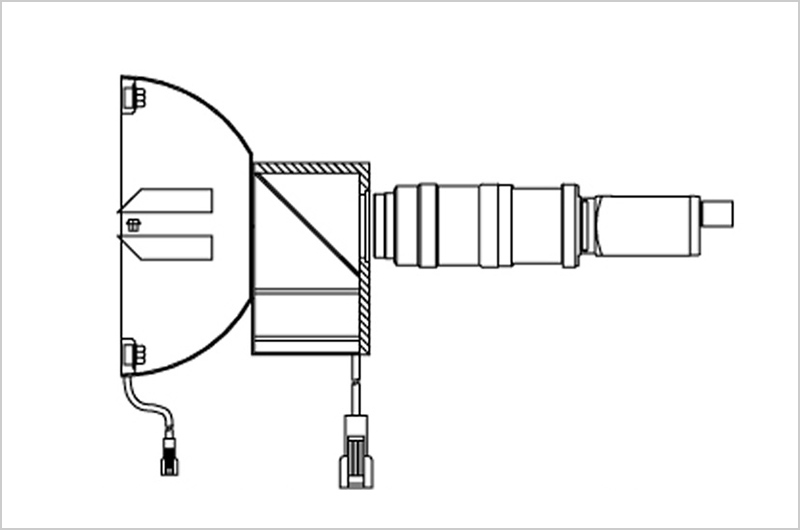 同軸落射照明とドーム照明またはリング照明との組み合わせ