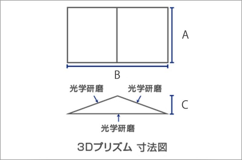 3Dプリズム寸法図